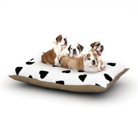 "Suzanne Carter ""Hearts Black"" White Dog Bed"