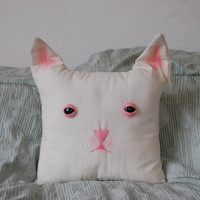 Odd Doll - Creepy Kitty Face Pillow! ((Made to Order))