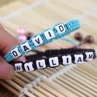 Professional custom name bracelets, making different names, wax attachment woven bracelets