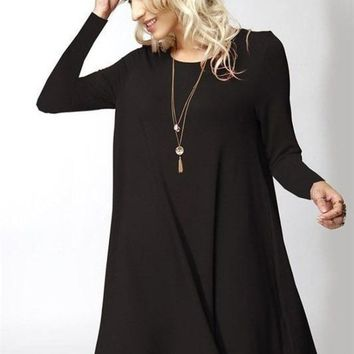 Girl Boss Swing Dress - Black