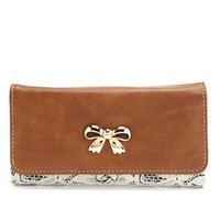 Bow-Front Lace Wallet: Charlotte Russe