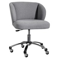 Highlands Gray Wingback Desk Chair