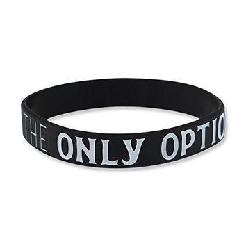 SUCCESS IS THE ONLY OPTION  Motivational Black Silicone Wristband