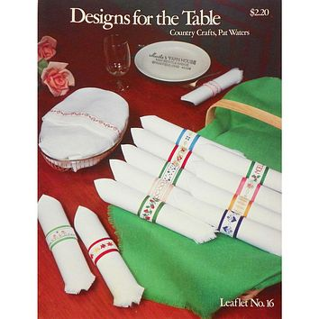 Designs for the Table - Counted Cross Stitch Leaflet