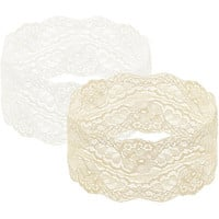 2 On A Card Stretch Lace Headwraps