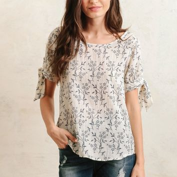 Whimsical Willows Printed Top