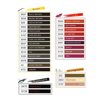 Tattoo inks  25color Optional Permanent Makeup Micro Pigment Cosmetic encre tatouage Tattoo Ink Permanent Eyebrow Eyeliner Lip