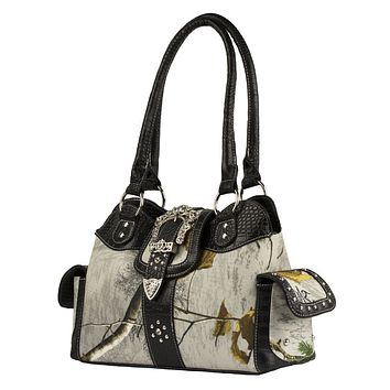 Realtree Blinged Out  Camo Handbag in Snow White