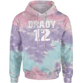 Brady #12 New England Football  Tie-Dye Adult Hoodie Sweatshirt