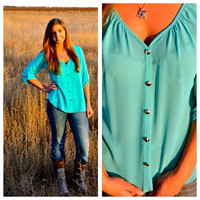 Mint Hey Stud V- Neck Blouse