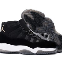 Air Jordan 11 Retro AJ11 Velvet Heiress Black Sneaker Shoes US7-13