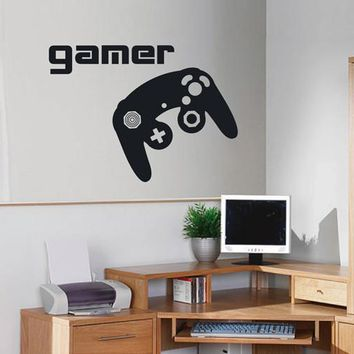 ik2545 Wall Decal Sticker controller console Xbox 360 Game PS4 player bedroom teens
