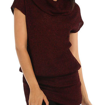 Bordeaux Heather Tunic Sweater