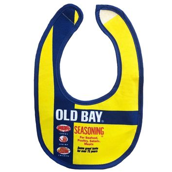 Old Bay Can / Baby Bib