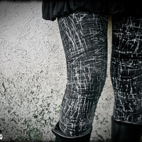 GRAPHITE - Black Goth Leggings Black Urban Decay Post Apocalyptic Edgy Cyberpunk Rocker