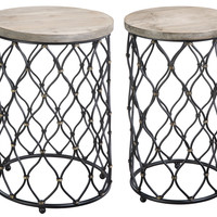 Rustic Black Nesting Tables (Set of 2)