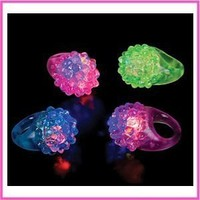 Flashing LED Bumpy Rings (12 pcs)