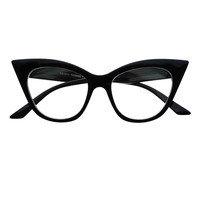 Retro Vintage Womens Fashion Clear Lens Cat Eye Glasses Frames C1150
