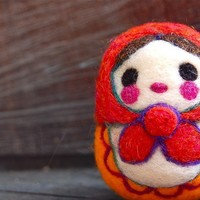 Matryoshka  Russian Wooly Egg Doll Made to Order