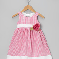 Fuchsia Gingham Seersucker Dress - Infant & Toddler | Daily deals for moms, babies and kids