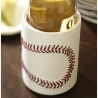 Baseball Leather Bottle Koozie
