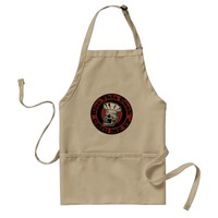 Kiss This Cook - Wood Grain Look Adult Apron