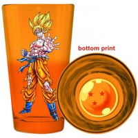 Dragon Ball Z Bottom Print Pint Glass - Goku