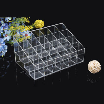 24 Display Stand Clear Cosmetic makeup organizer