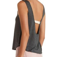 PLUNGING STRAPPY BACK TANK TOP
