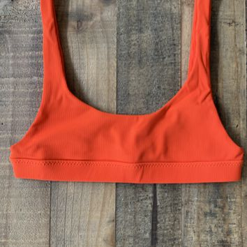 Stone Fox Swim - Coco Top | Red Rib