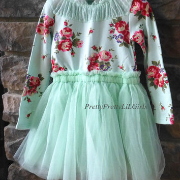 Girls Fall Dress, Toddler Girls Dress, Long Sleeve Girls Dress, Ivory Girls Dress, Tutu Dress, Girls Fall Dress, Toddler Dress