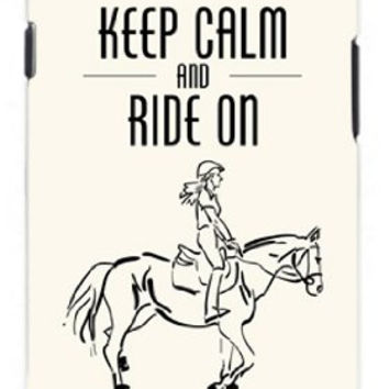 Horse Pony Equestrian Keep Calm And Ride On Unique Quality Soft Rubber TPU Case for Samsung Galaxy S3 SIII i9300 - White Case