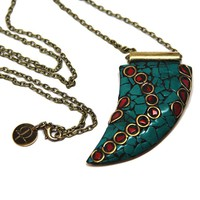 Joni Horn Turquoise Necklace