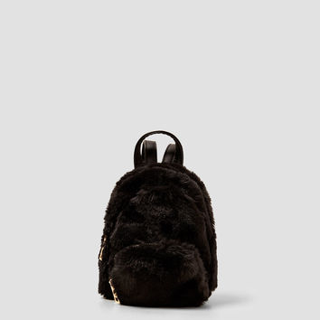 TEXTURED MINI BACKPACK