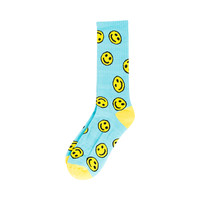 HAPPY FACE SOCKS BLUE