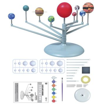 New nine planets model puzzle assembled solar system planetary instrument children science and education DIY toy set