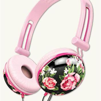 Hawthorne Rose Headphones | Floral Noise Cancelling Headphones