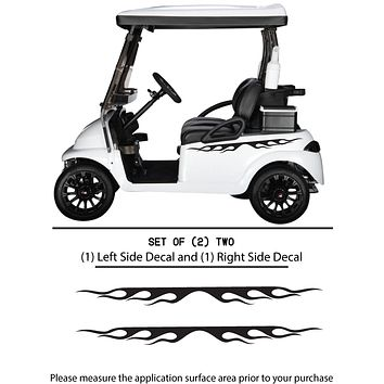 Golf Cart Vinyl Graphic Decals, Set of (2) TWO - STYLE F1086