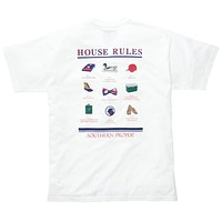 House Rules Tee in White by Southern Proper