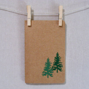 Woodland  Moleskine  Journal  Hand Printed by WoodenSpoonEditions