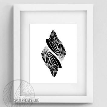 Original Art Print, Instant Download, Graphic Print, Art, Digital File, Wall Art, Black and White, Abstract, Modern Art, Minimal Desigm