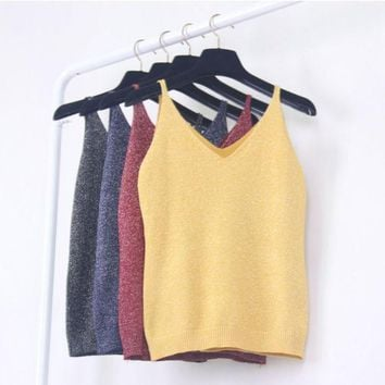 PEAPHY3 Sexy Women Fashion Knitting Vest Top Sleeveless V-Neck Blouse Casual Tank Tops