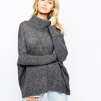 Vila Roll Neck Chunky Knit Jumper