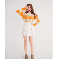 Fur Triangle Patterned Sweater - I know you wanna kiss me. Thank you for visiting CHUU.