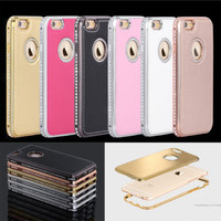 "NEW Crystal Bling Diamond Bumper Hybrid Case Cover For iPhone 6 4.7"" 6S Plus 5.5"