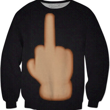 Middle finger sweat shirt -black