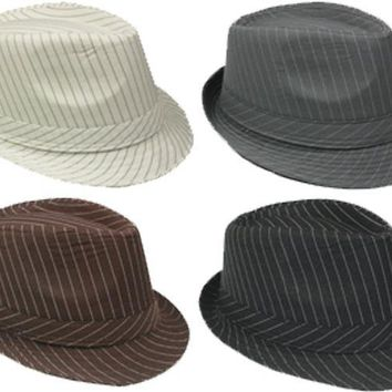 Fedora Hat with Pinstripes - CASE OF 72