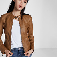 (minus the) leather double peplum jacket