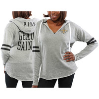New Orleans Saints PINK by Victoria's Secret Women's Varsity Tunic Pullover Hoodie – Gray