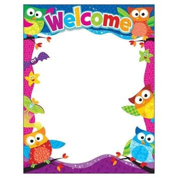 WELCOME OWL STARS LEARNING CHART